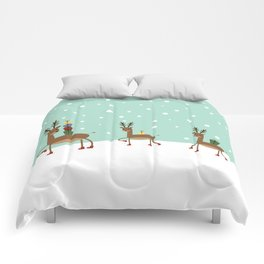 Christmas gifts from the reindeer #society6 #homedecor Comforters