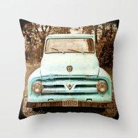 truck Throw Pillows featuring truck by Carl Christensen