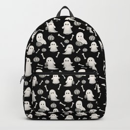 HALLOWEEN GHOST PARTY B&W Backpack