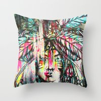 destiny Throw Pillows featuring Destiny by Mo Baretta
