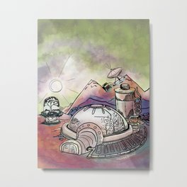 Space Station Metal Print