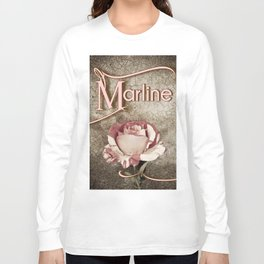 Personalized Antique Rose Long Sleeve T-shirt
