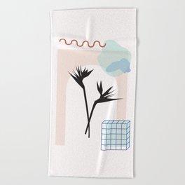 // Royal Gardens 01 Beach Towel