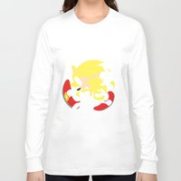 sonic Long Sleeve T-shirts featuring Super Sonic by JHTY