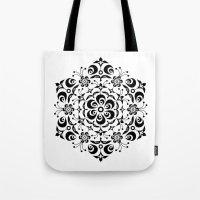 snowflake Tote Bags featuring Snowflake by BWartwork