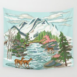 Paint by Number Mountain Medow Wall Tapestry