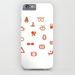 Vehicle Dash Warning Symbols iPhone Case