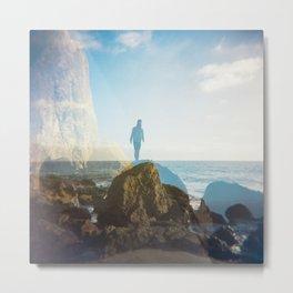 Boy on the California Coast - Film Double Exposure Metal Print
