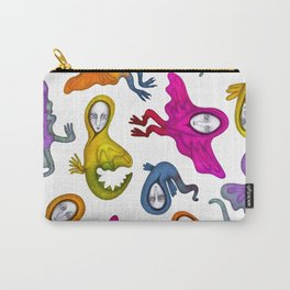 colorful flying witches Carry-All Pouch