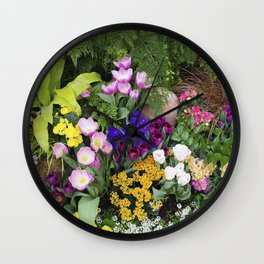 Floral Spectacular - Olbrich Botanical Gardens Spring Flower Show, Madison, WI Wall Clock