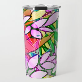 Grunge Art Floral Abstract G130 Travel Mug