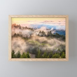 Coastal Fog Over Mount Tamalpais Framed Mini Art Print