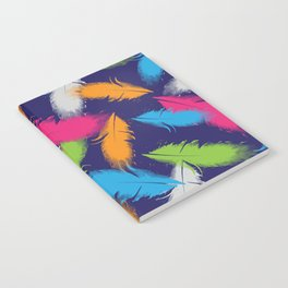Bright Falling Feathers Notebook