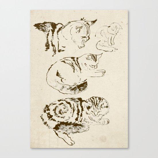 Harryhausen (full page version) Canvas Print