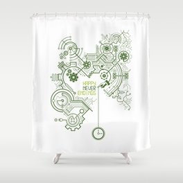 Happy Never Endings Shower Curtain