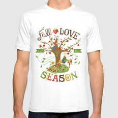 Fall in Love with the Season Mens Fitted Tee White SMALL