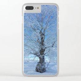 Frozen tree Clear iPhone Case