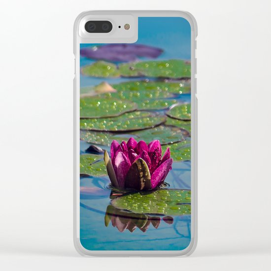 Two water lilies Clear iPhone Case