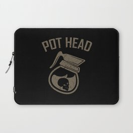 POT HEAD COFFEE QUOTE Gift Coffee Lover Barista Laptop Sleeve