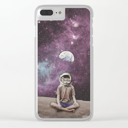 PSYCHONAUT UNIVERSE MEDITATION Clear iPhone Case