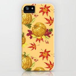 Ocher autumn pattern iPhone Case