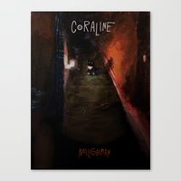 coraline Canvas Prints featuring Coraline by Amanda Thompson