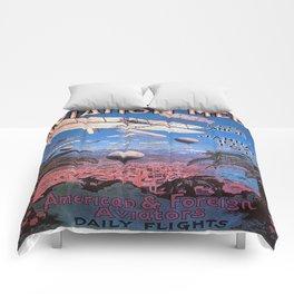 Vintage poster - Aviation Meet Comforters