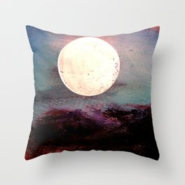 Tonight, I Am Dreaming That We Can Sleep Under The Same Moon. Throw Pillow