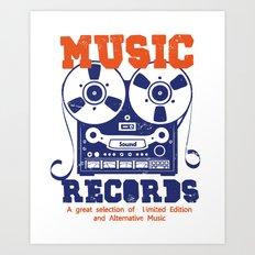 Music Records Art Print