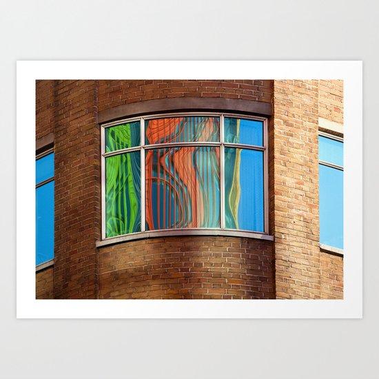 Rainbow Window Art Print
