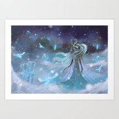 Lady Winter Art Print