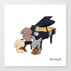 Bunny Trio Canvas Print
