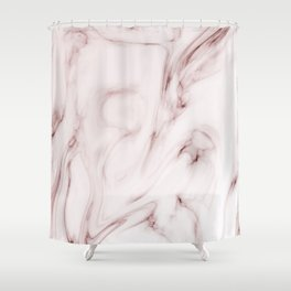 Red marble pattern Shower Curtain