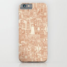 vintage halloween rust ivory iPhone Case