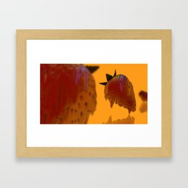 Strawberry Drip Framed Art Print