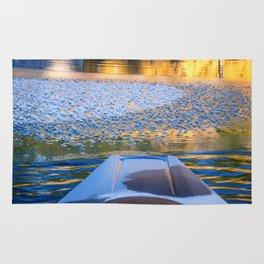 Beauty on Ice kayaking on McCloud Reservoir Rug