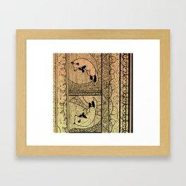 Leaping Fox Framed Art Print