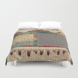 Table of Contents by Ando Hiroshige Duvet Cover