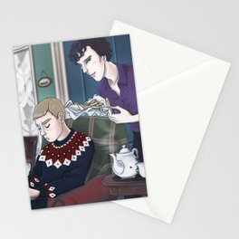 Late Lunch at 221B Baker Street Stationery Cards