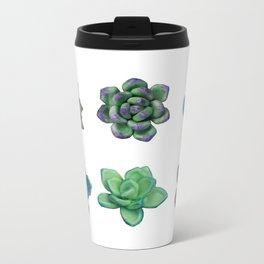 Green Succulent Plants Metal Travel Mug
