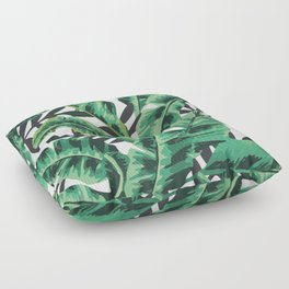 Tropical Glam Banana Leaf Print Floor Pillow