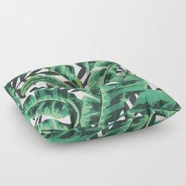 Tropical Glam Banana Leaf Print Floor Pillow
