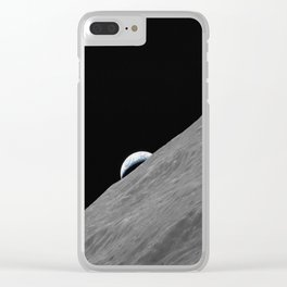 Apollo 17 - Crescent Moon Clear iPhone Case