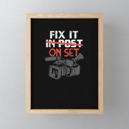 Fix It On Set Framed Mini Art Print