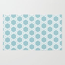 Hex pattern 72 - Aqua Rug