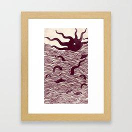 Octopus The Rising Sun II Framed Art Print