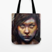 oil Tote Bags featuring Una by Michael Shapcott