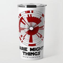Dare Mighty Things Perseverance Mars Rover Landing Binary Code Pattern Travel Mug