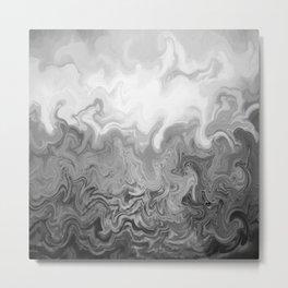 Design 83 grayscale Metal Print