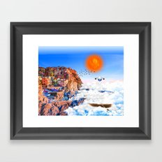 Air Island Framed Art Print
